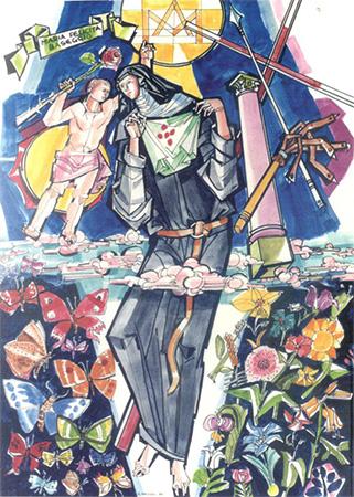 Suor Baseggio e il Bambino Gesù - Disegno di G. Hajnal